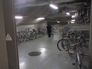 ヒルズの駐輪場